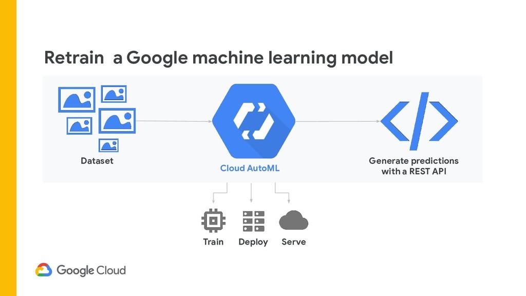 Retrain a Google machine learning model Cloud A...