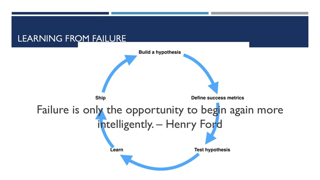 LEARNING FROM FAILURE Failure is only the oppor...