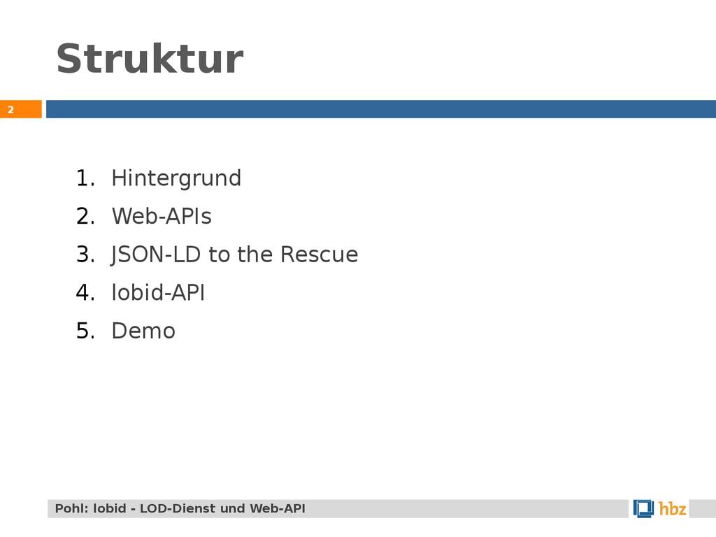 Struktur 2 Pohl: lobid - LOD-Dienst und Web-API...