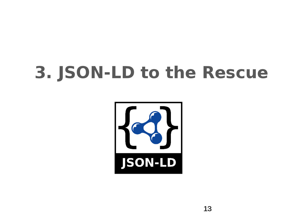 3. JSON-LD to the Rescue 13