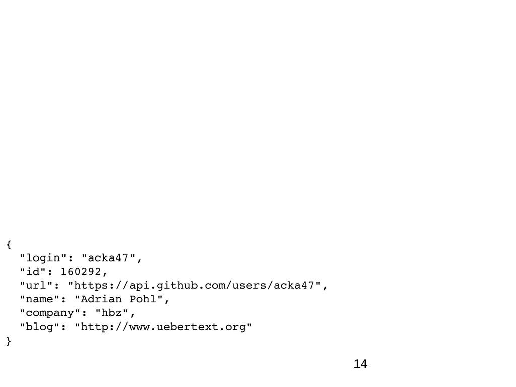"""14 { """"login"""": """"acka47"""", """"id"""": 160292, """"url"""": """"h..."""