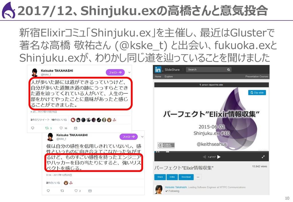 10 2017/12、Shinjuku.exの高橋さんと意気投合 新宿Elixirコミュ「Sh...