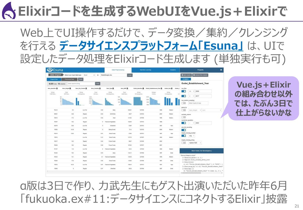 21 Elixirコードを生成するWebUIをVue.js+Elixirで Web上でUI操作...