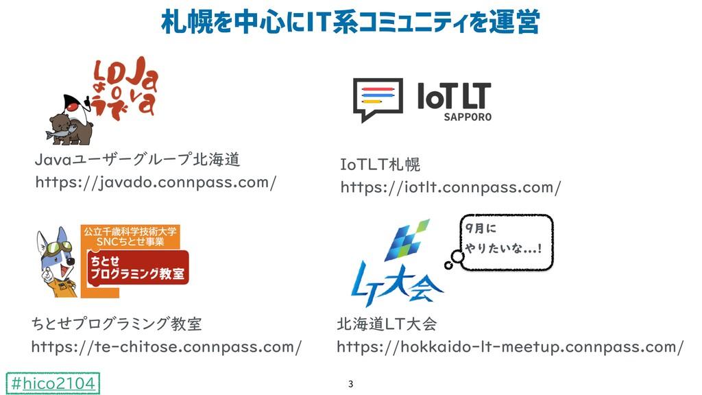 #hico2104 :;YZ[\&']()*+,-Y./ 3 Javaユーザーグループ北海道 ...