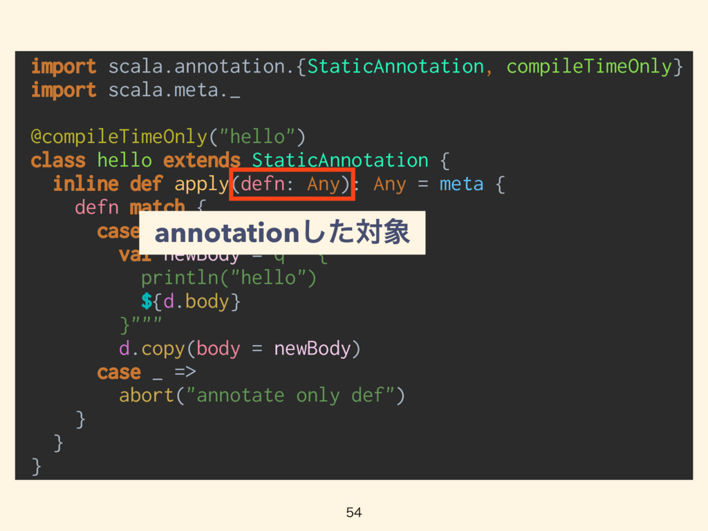 import scala.annotation.{StaticAnnotation, c...