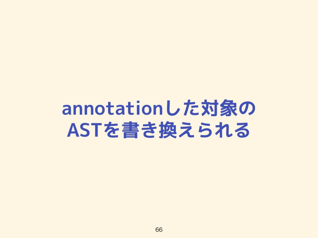 annotationした対象の ASTを書き換えられる