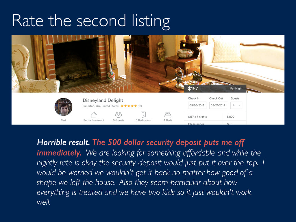 Rate the second listing Horrible result. The 50...