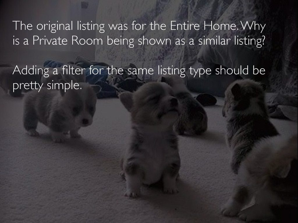 The original listing was for the Entire Home. W...