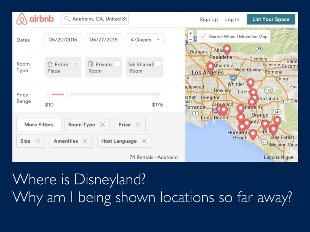 Where is Disneyland? Why am I being shown locat...
