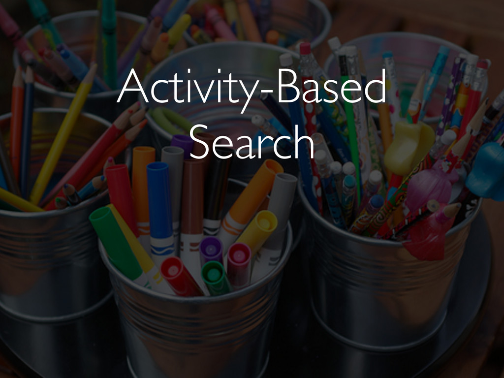 Activity-Based Search