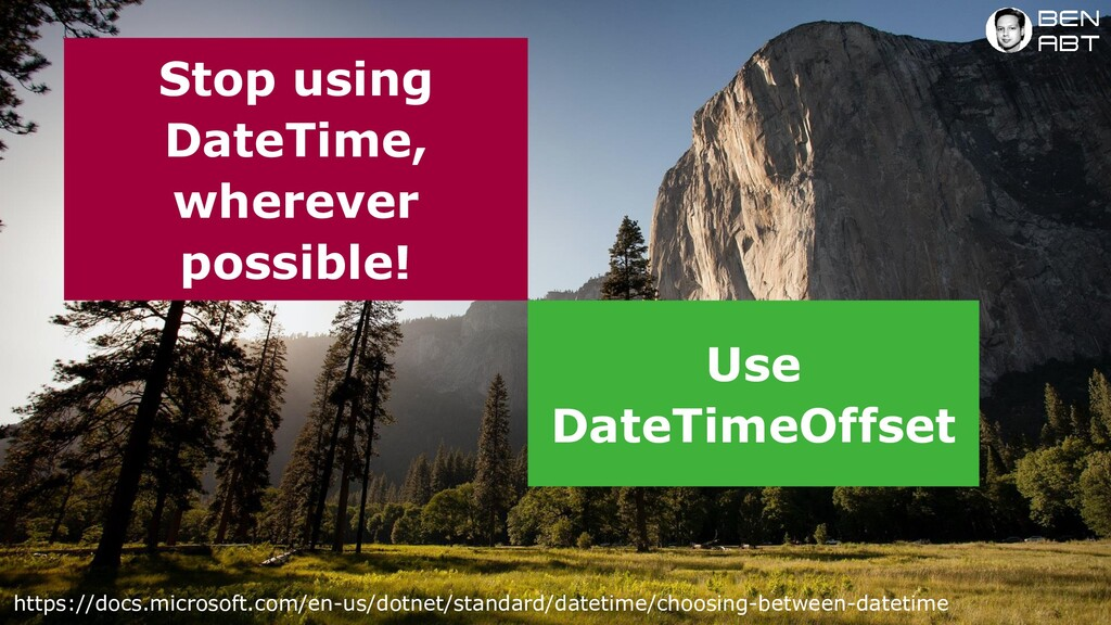 Stop using DateTime, wherever possible! https:/...