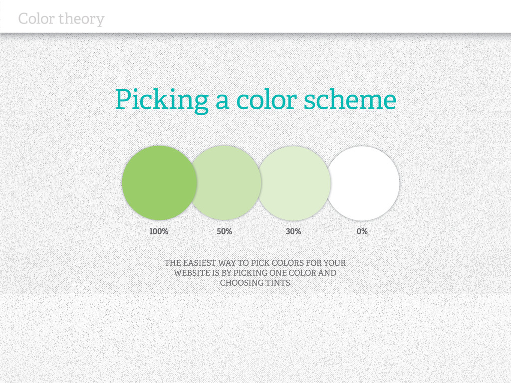 Picking a color scheme Color theory THE EASIEST...