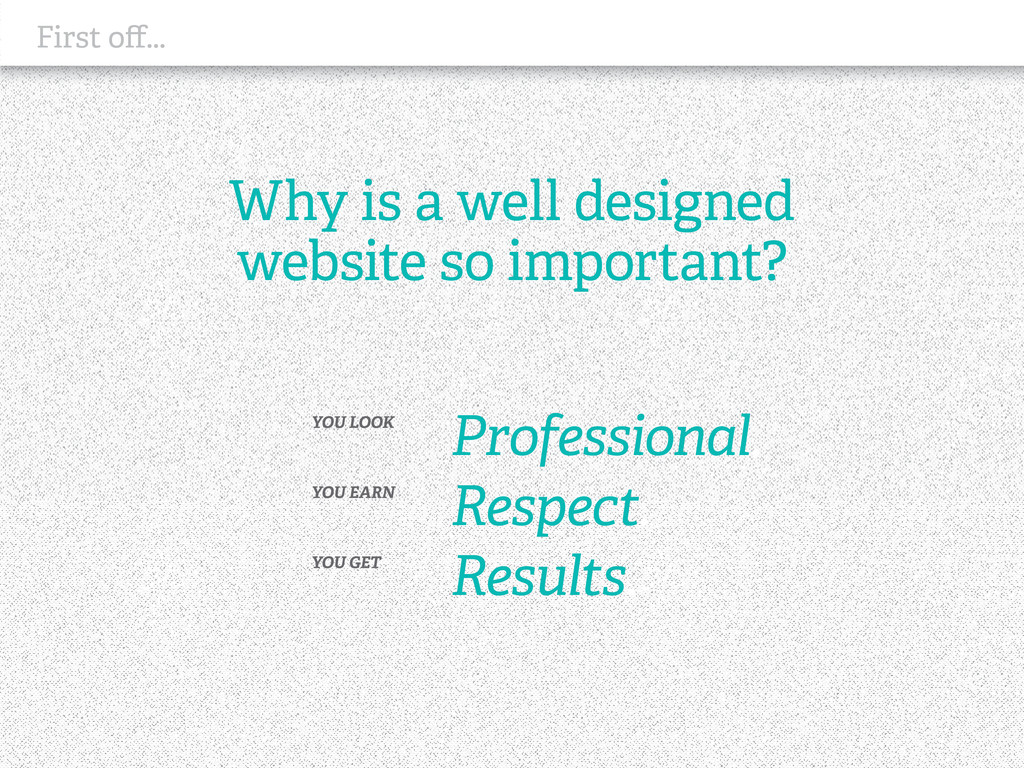 Why is a well designed website so important? YO...