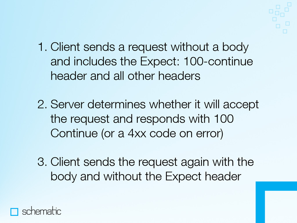 1. Client sends a request without a body and in...
