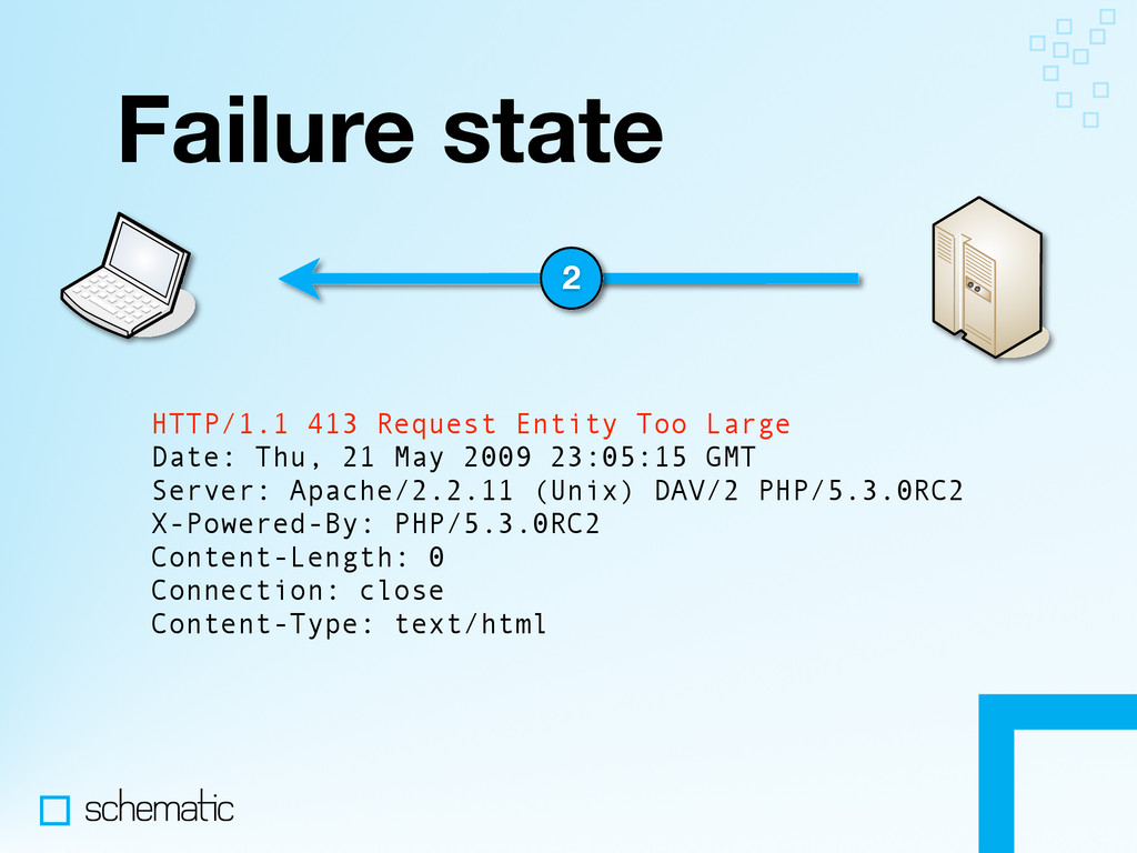 2 HTTP/1.1 413 Request Entity Too Large Date: T...