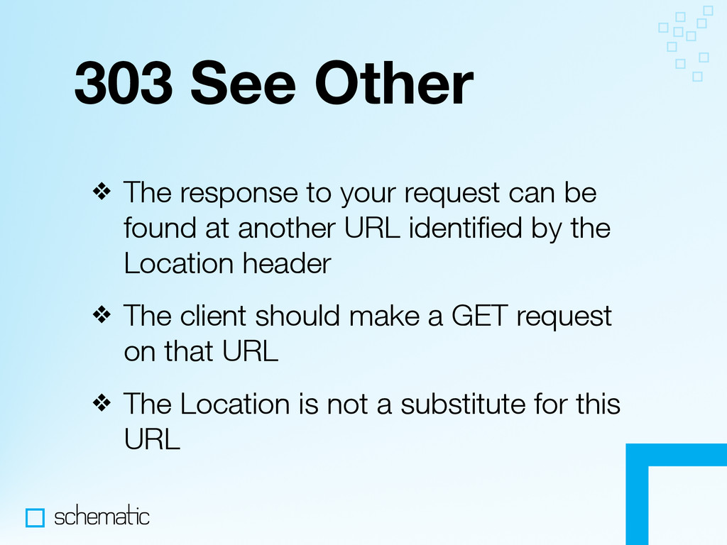 303 See Other ❖ The response to your request ca...