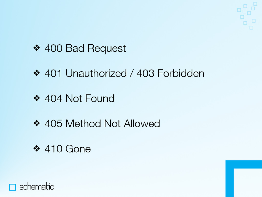 ❖ 400 Bad Request ❖ 401 Unauthorized / 403 Forb...