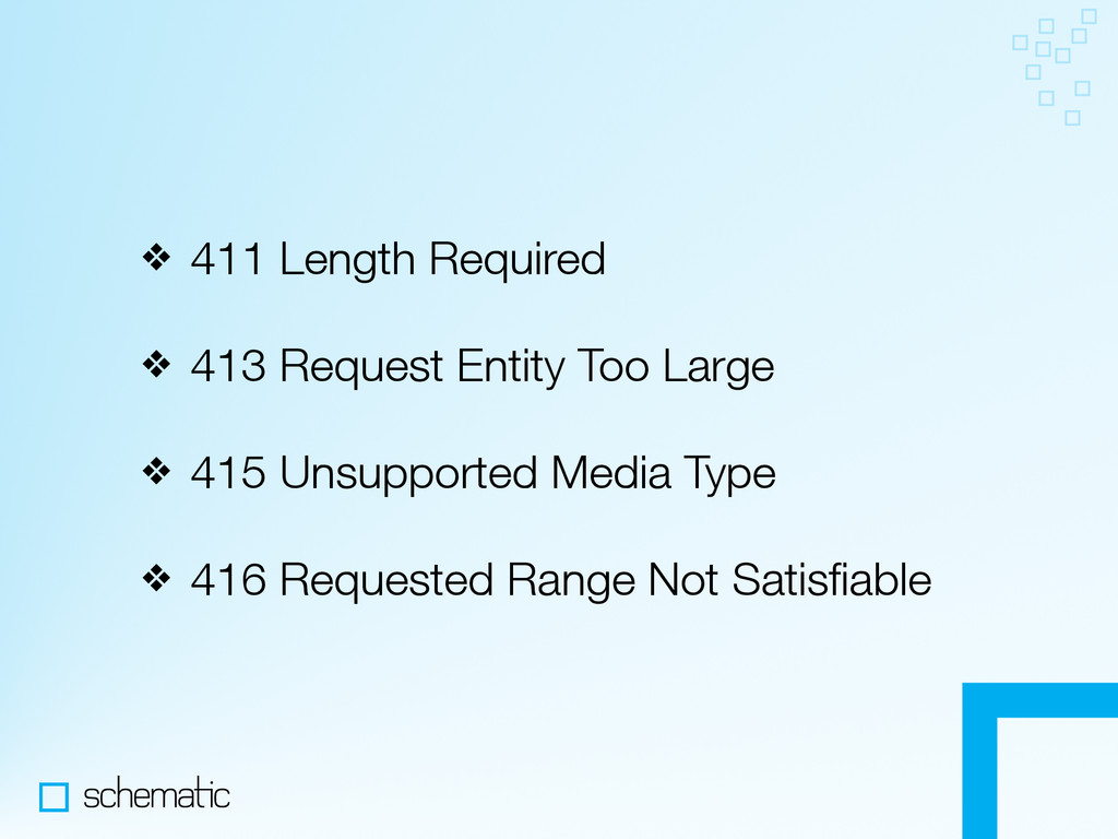 ❖ 411 Length Required ❖ 413 Request Entity Too ...