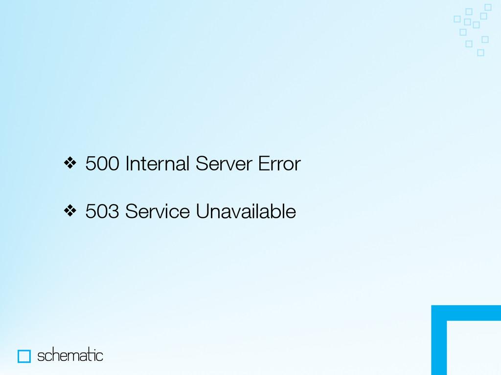 ❖ 500 Internal Server Error ❖ 503 Service Unava...