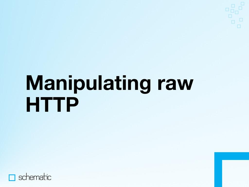 Manipulating raw HTTP