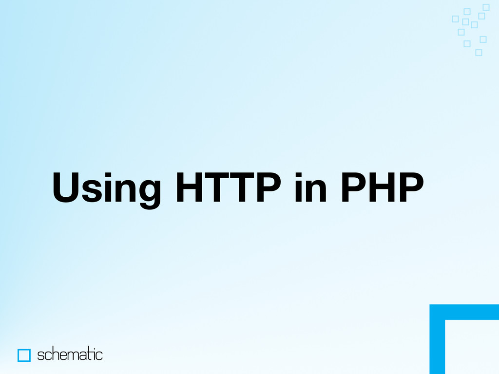 Using HTTP in PHP