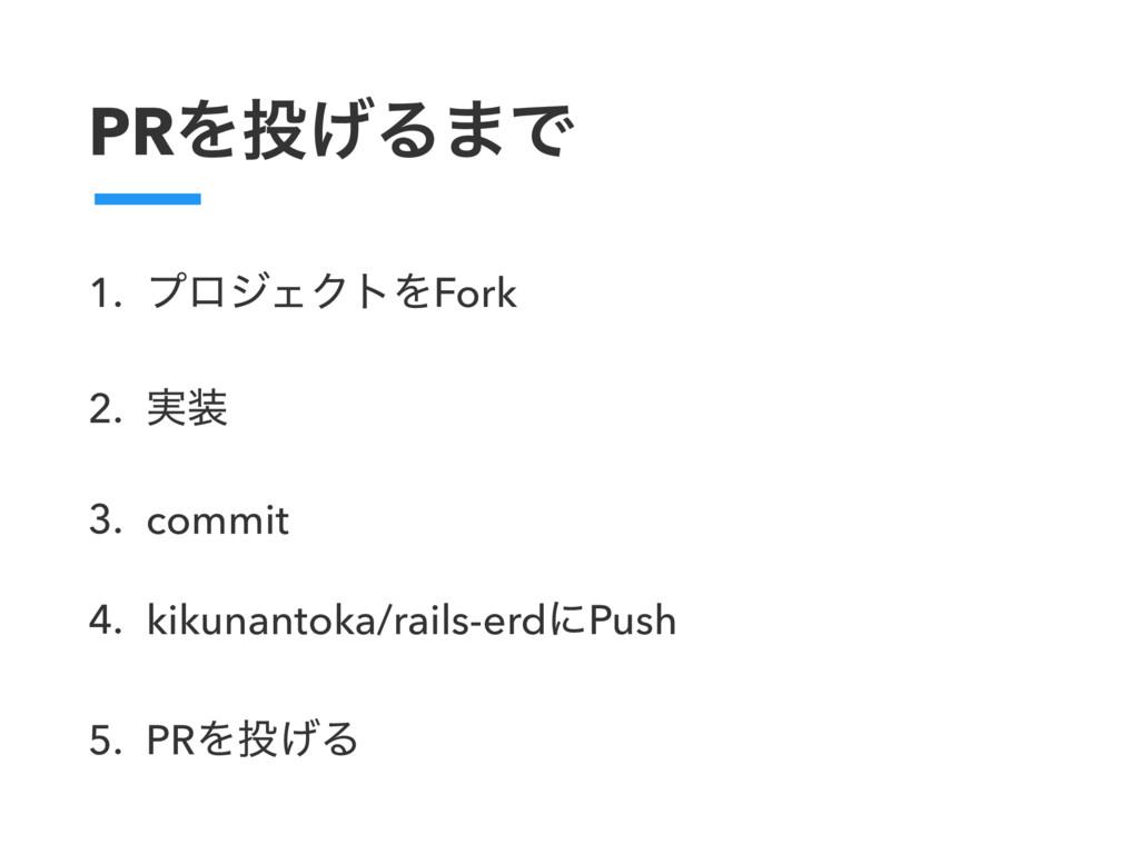 PRΛ͛Δ·Ͱ 1. ϓϩδΣΫτΛFork 2. ࣮ 3. commit 4. kiku...