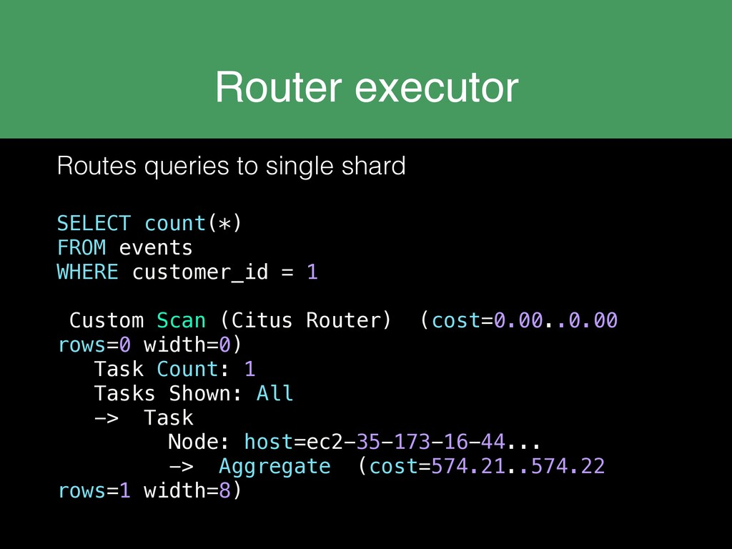 Router executor Routes queries to single shard ...
