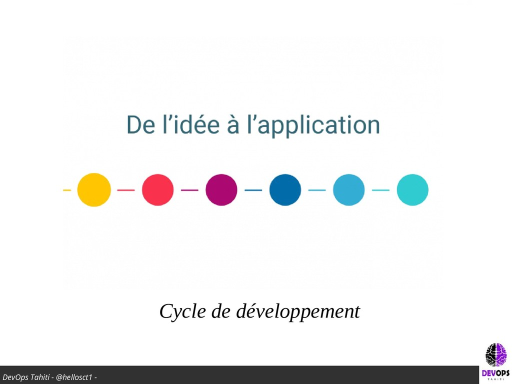 DevOps Tahiti - @hellosct1 - Cycle de développe...