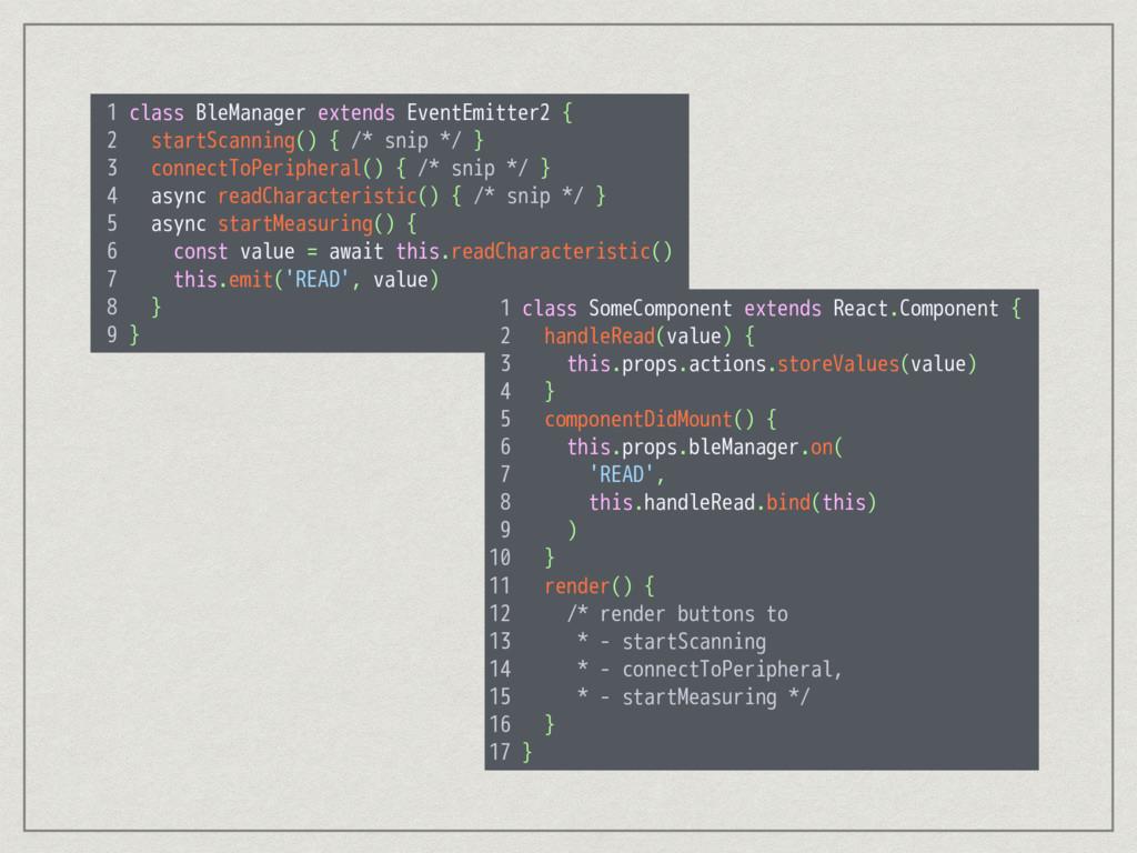 1 class BleManager extends EventEmitter2 { 2 st...