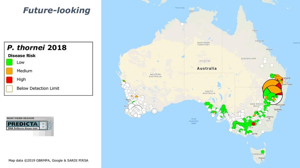 Map data ©2019 GBRMPA, Google & SARDI PIRSA Low...