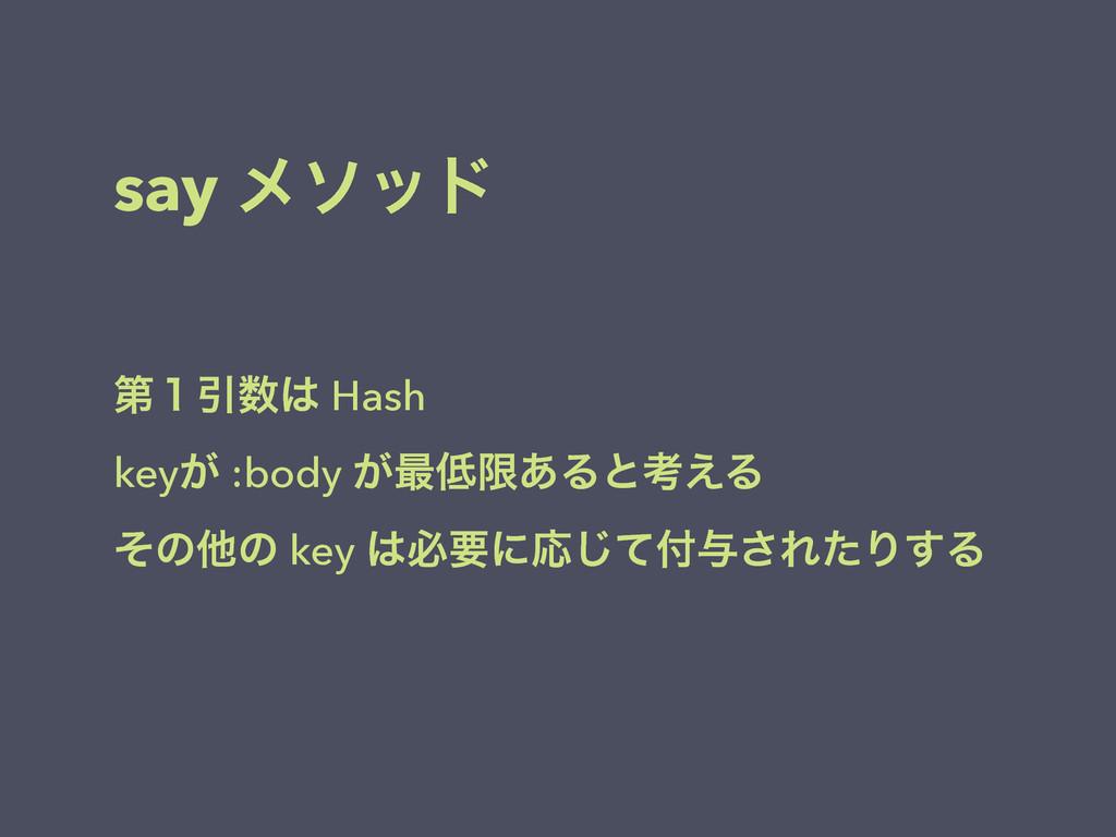 say ϝιου ୈ̍Ҿ Hash key͕ :body ͕࠷ݶ͋Δͱߟ͑Δ ͦͷଞͷ ...