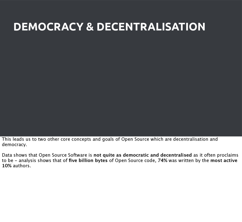DEMOCRACY & DECENTRALISATION This leads us to t...