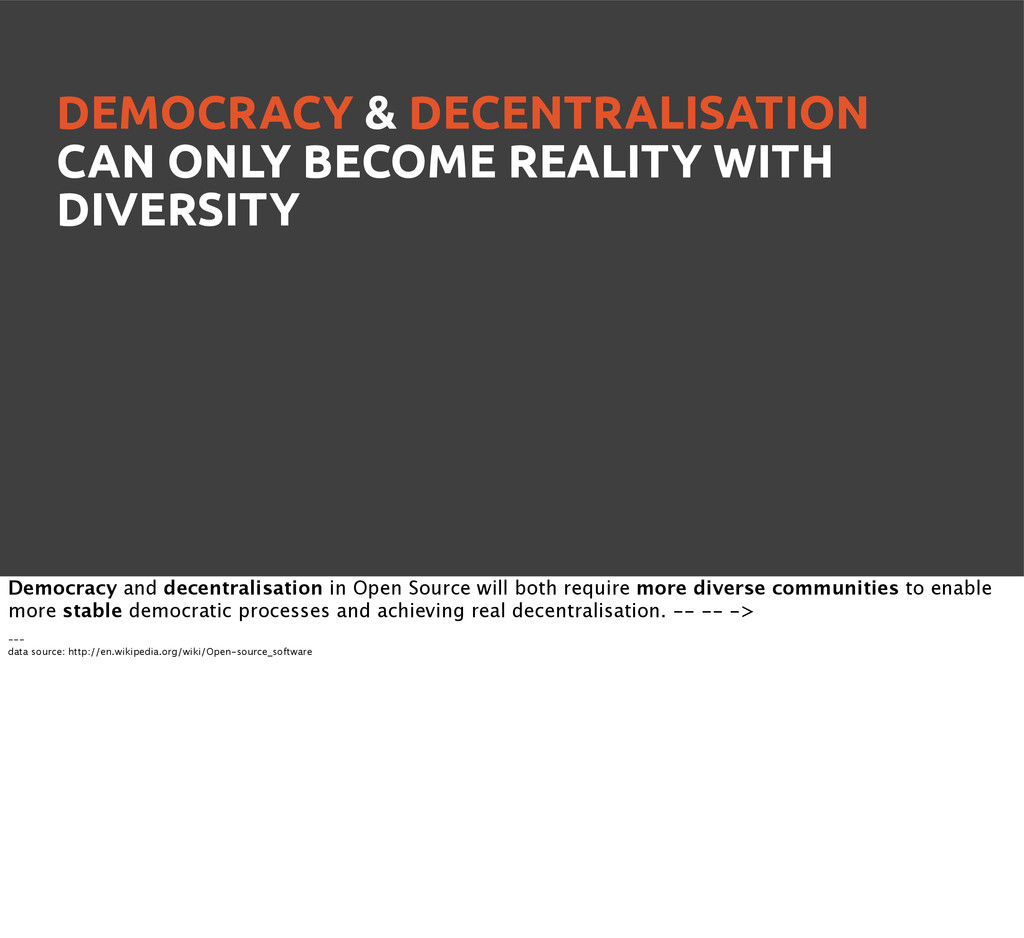 DEMOCRACY & DECENTRALISATION CAN ONLY BECOME RE...