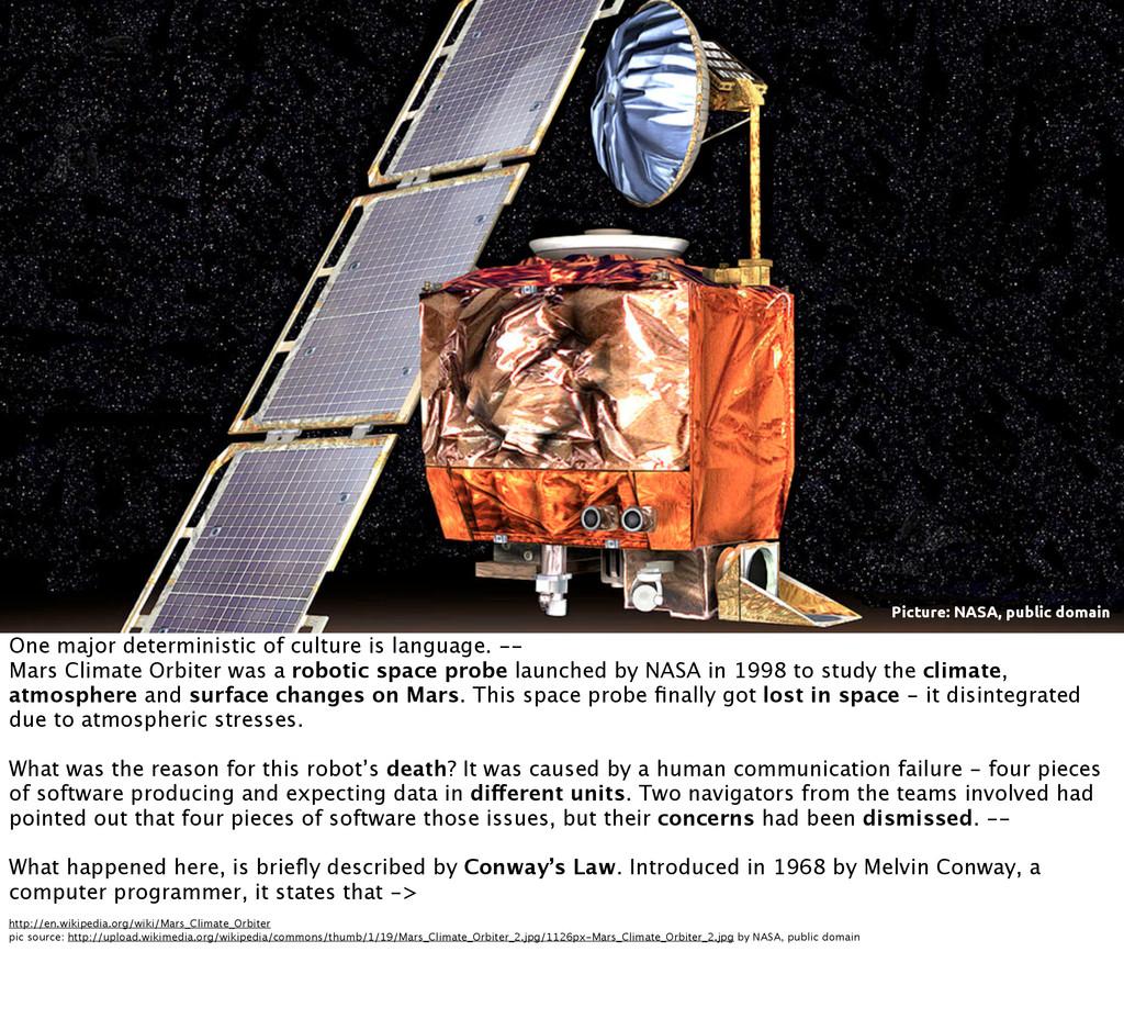 Picture: NASA, public domain One major determin...