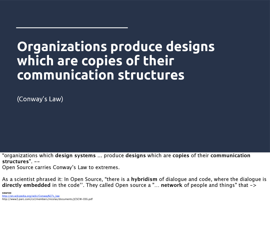 Organizations produce designs which are copies ...