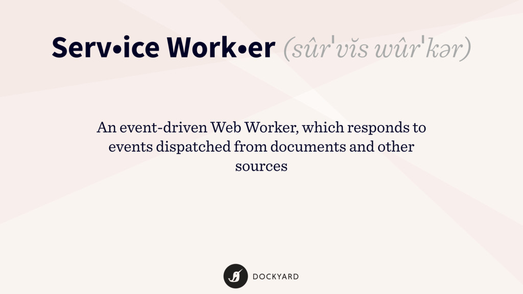 An event-driven Web Worker, which responds to e...