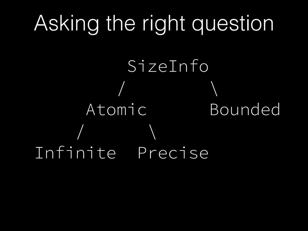 SizeInfo / \ Atomic Bounded / \ Infinite Precis...