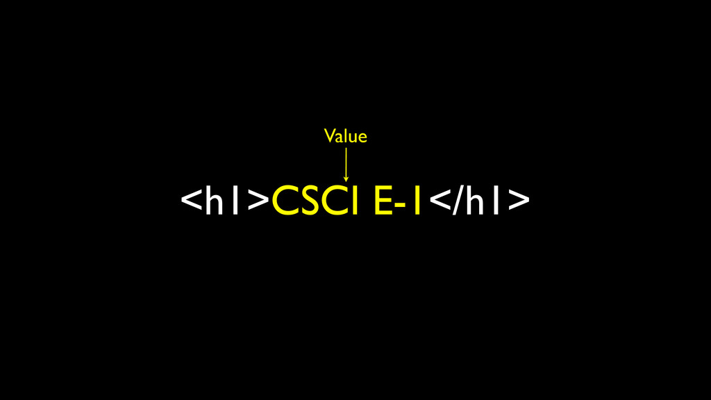 <h1>CSCI E-1</h1> Value