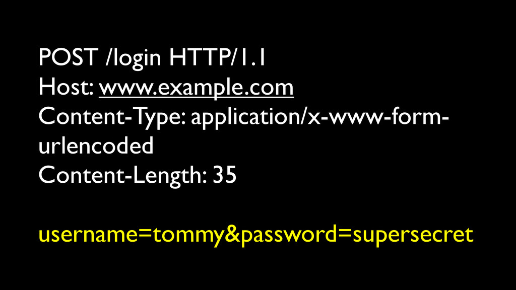 POST /login HTTP/1.1 Host: www.example.com Cont...