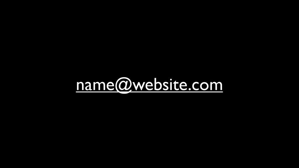 name@website.com