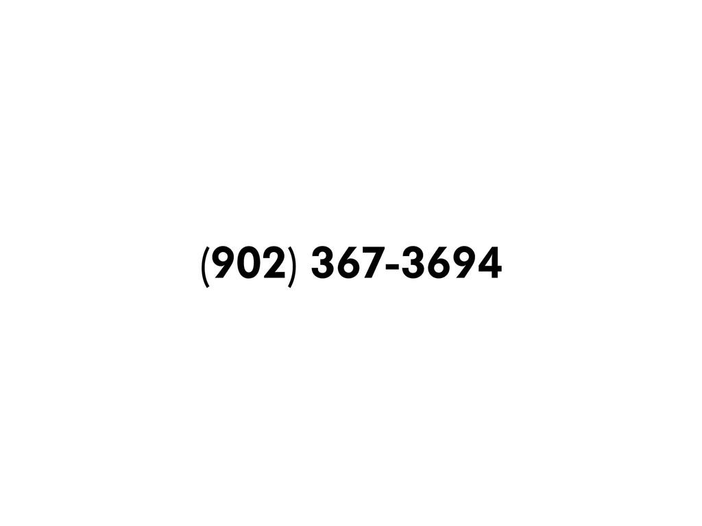 (902) 367-3694