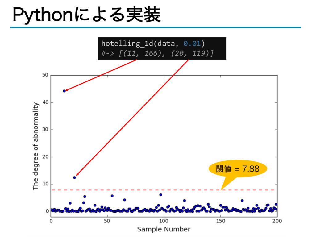 1ZUIPOʹΑΔ࣮ hotelling_1d(data, 0.01) #-> [(11, ...