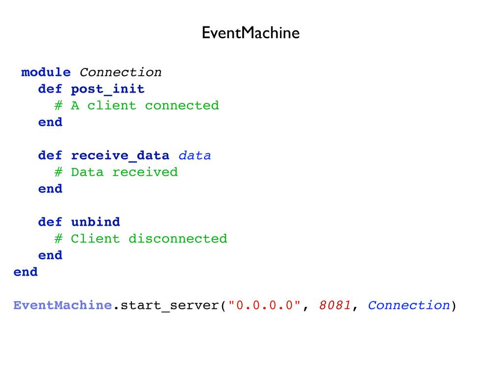 module Connection def post_init # A client conn...