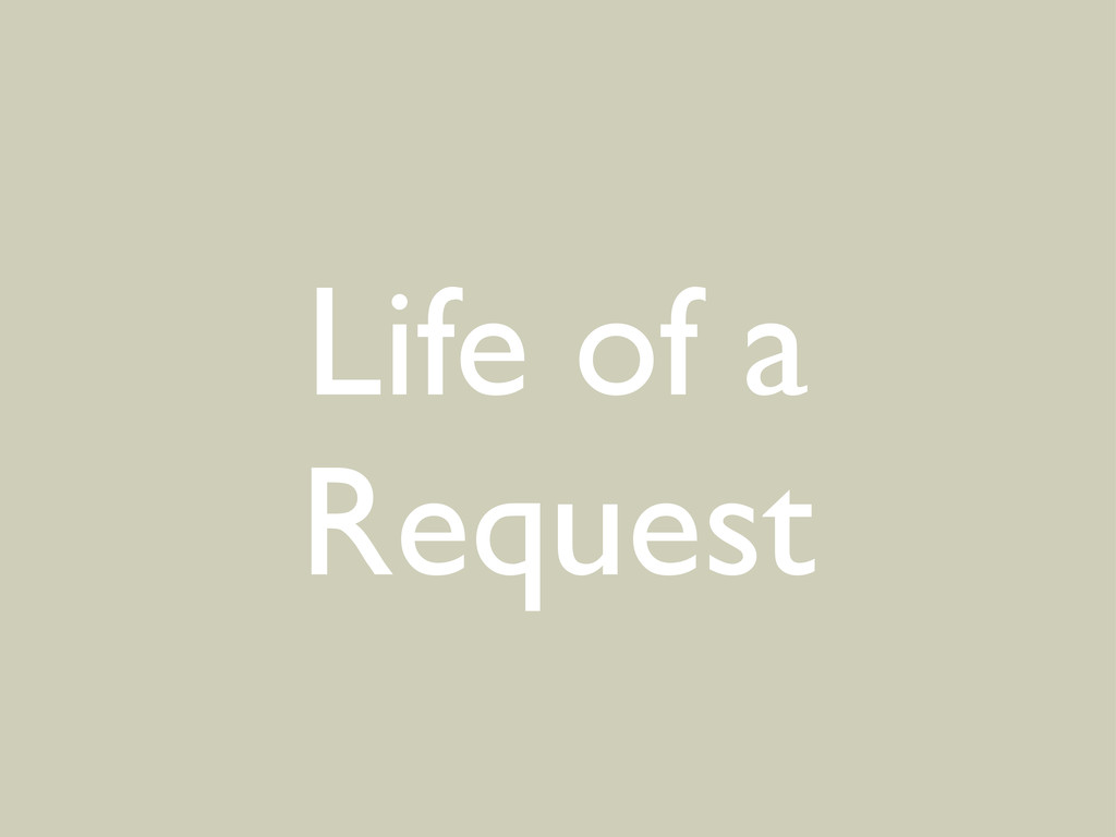 Life of a Request