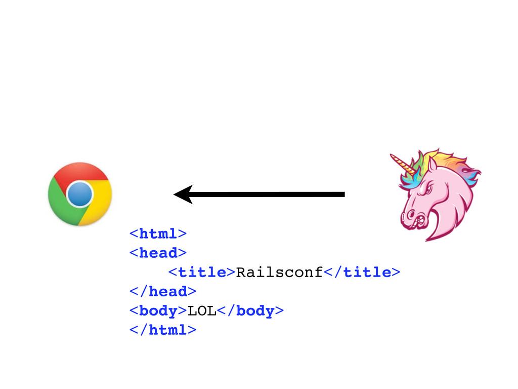 <html> <head> <title>Railsconf</title> </head> ...