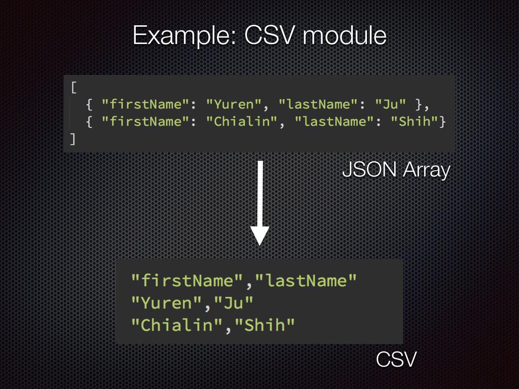 JSON Array CSV Example: CSV module