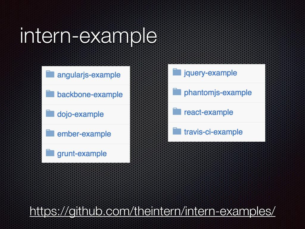 intern-example https://github.com/theintern/int...