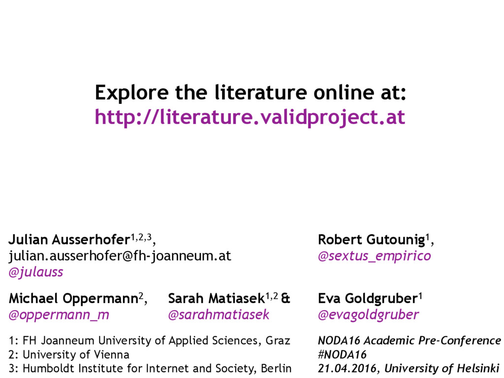 MEDIA & DESIGN Explore the literature online at...
