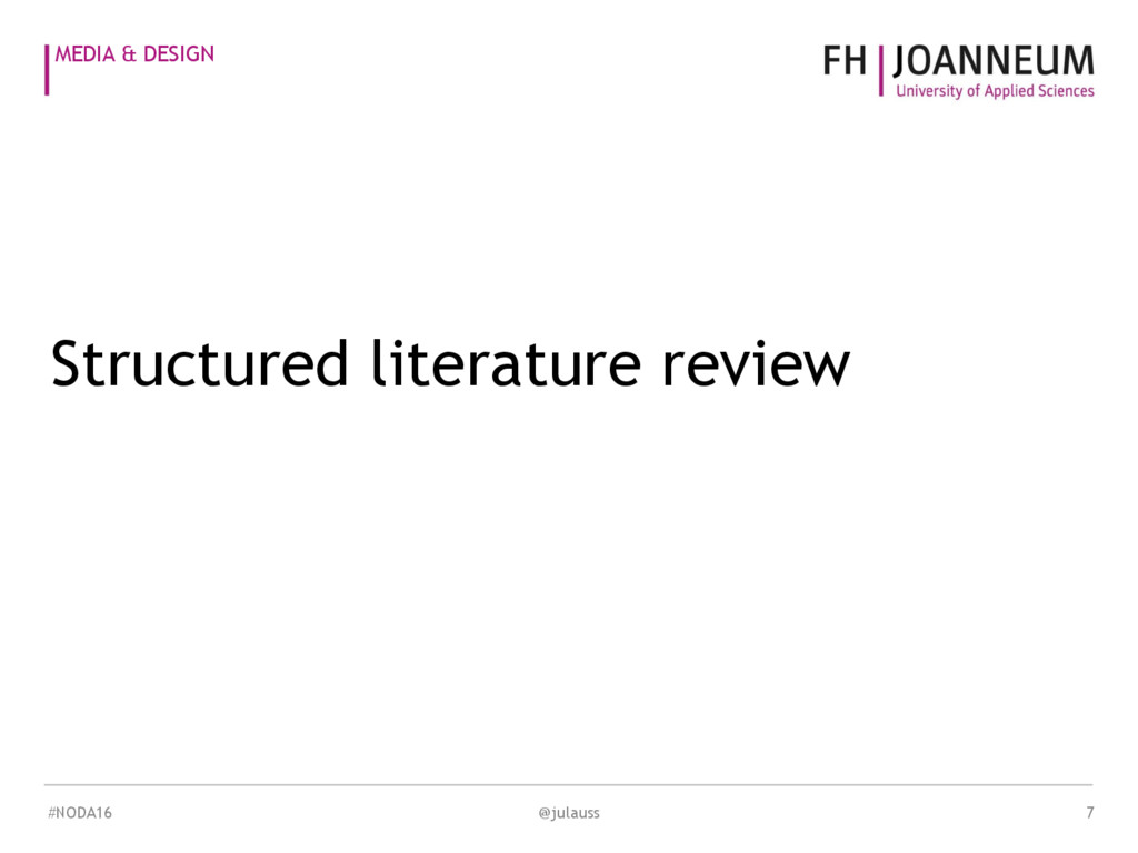 MEDIA & DESIGN Structured literature review @ju...