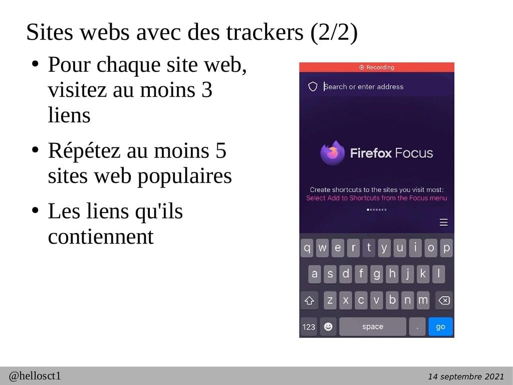 14 septembre 2021 @hellosct1 Sites webs avec de...